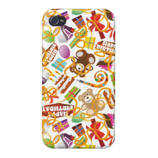 Happy Birthday Pattern Illustration iPhone 4 Cover