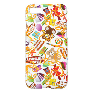 Happy Birthday Pattern Illustration iPhone 8/7 Case