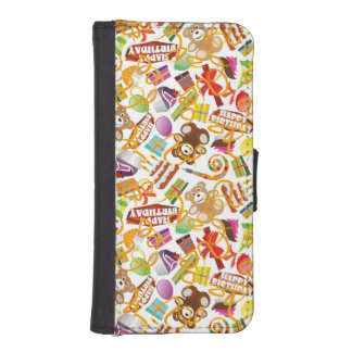 Happy Birthday Pattern Illustration iPhone SE/5/5s Wallet Case