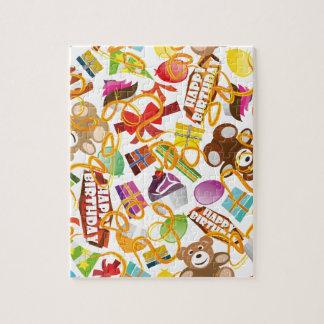 Happy Birthday Pattern Illustration Jigsaw Puzzle