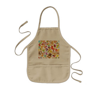 Happy Birthday Pattern Illustration Kids Apron