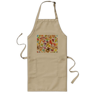 Happy Birthday Pattern Illustration Long Apron