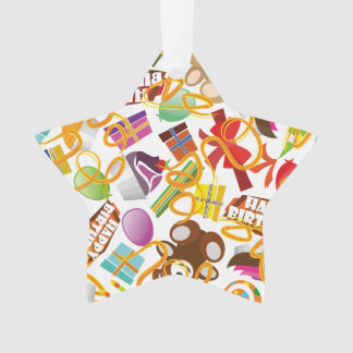 Happy Birthday Pattern Illustration Ornament