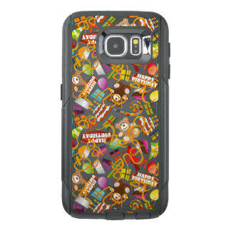 Happy Birthday Pattern Illustration OtterBox Samsung Galaxy S6 Case