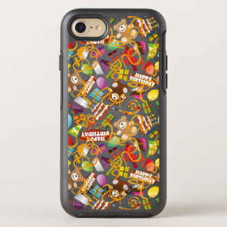 Happy Birthday Pattern Illustration OtterBox Symmetry iPhone 8/7 Case