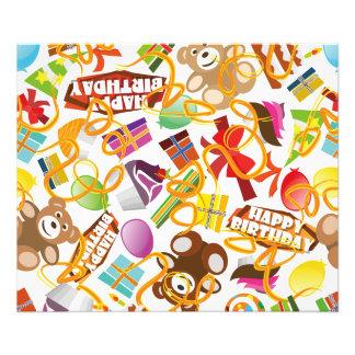 Happy Birthday Pattern Illustration Photo Print