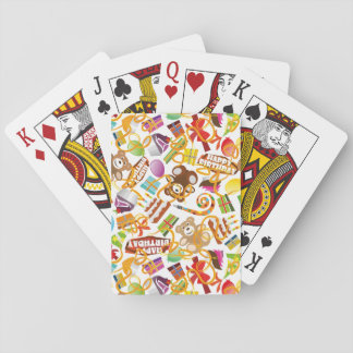 Happy Birthday Pattern Illustration Playing Cards