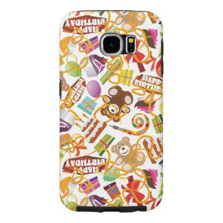 Happy Birthday Pattern Illustration Samsung Galaxy S6 Cases
