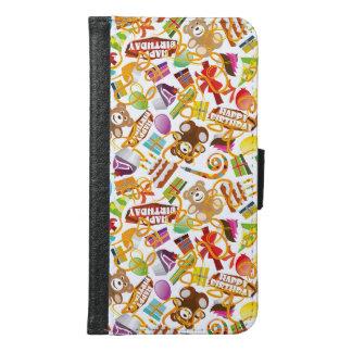 Happy Birthday Pattern Illustration Samsung Galaxy S6 Wallet Case