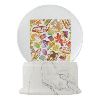 Happy Birthday Pattern Illustration Snow Globe
