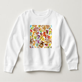 Happy Birthday Pattern Illustration Sweatshirt