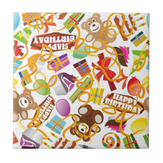 Happy Birthday Pattern Illustration Tile