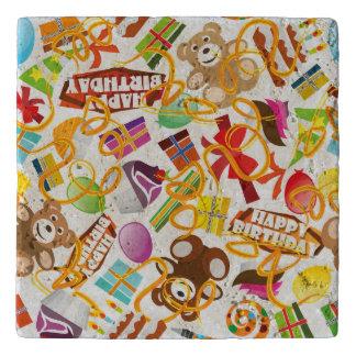 Happy Birthday Pattern Illustration Trivet