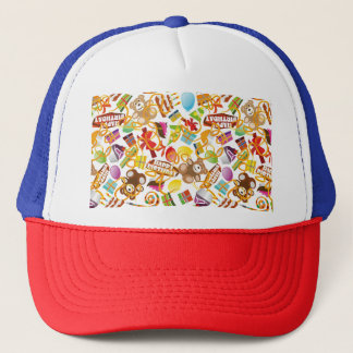 Happy Birthday Pattern Illustration Trucker Hat