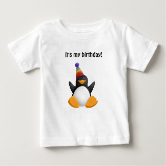 Happy Birthday Penguin Baby T-Shirt