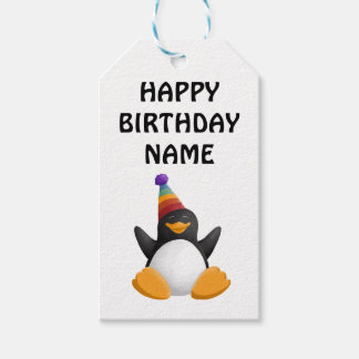 Happy Birthday Penguin Gift Tag Pack Of Gift Tags