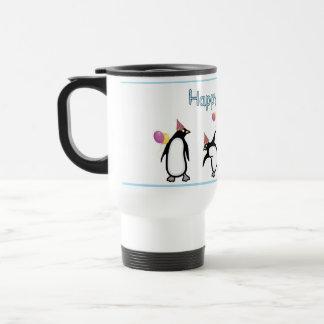 Happy Birthday Penguin Mug