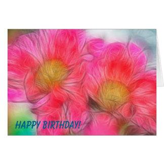 Happy Birthday Peony Duo Card