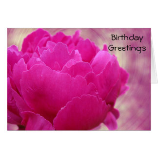 Happy Birthday - Peony Swirl Card