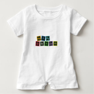 Happy Birthday Periodic Baby Romper