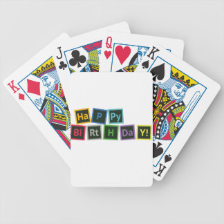 Happy Birthday Periodic Bicycle Playing Cards