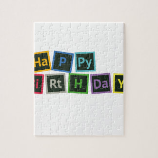 Happy Birthday Periodic Jigsaw Puzzle