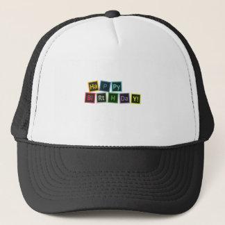 Happy Birthday Periodic Trucker Hat