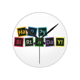Happy Birthday Periodic Wallclocks
