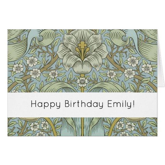 Happy Birthday Personalize Morris Custom Card