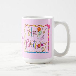 Happy Birthday Personalized Pink Mug