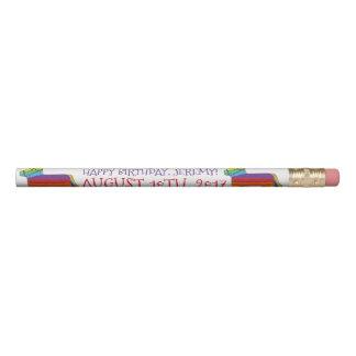 Happy Birthday Personalized Rainbow Pinata Favor Pencil