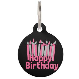 Happy Birthday Pet ID Tag