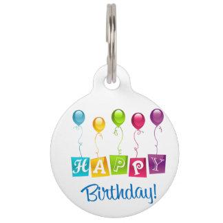 Happy Birthday Pet Tag