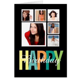 Happy Birthday Photo Template Personalized Card