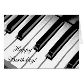 Happy Birthday! Piano Music Card