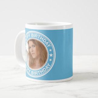 Happy Birthday Picture Frame in Blue Jumbo Mug