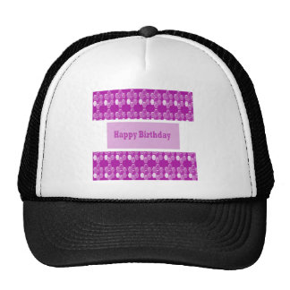 Happy Birthday Pink Purple Greeting Love Romance 9 Trucker Hat