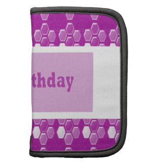Happy Birthday Pink Purple Greeting Love Romance 9 Planner