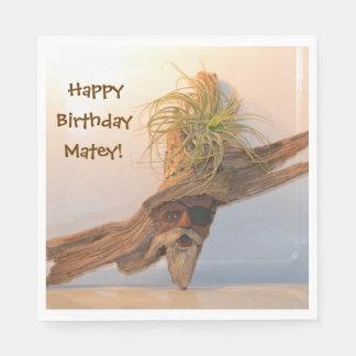 Happy Birthday Pirate Paper Napkins