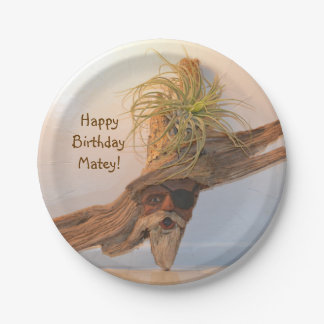 Happy Birthday Pirate Paper Plate