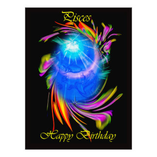 Happy Birthday Pisces - fish Art Photo