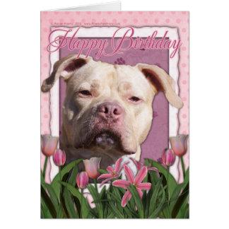 Happy Birthday - Pitbull - Jersey Girl Greeting Card