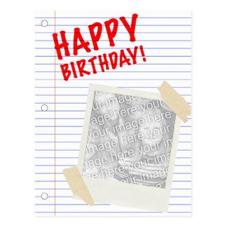 happy birthday! polaroid postcard