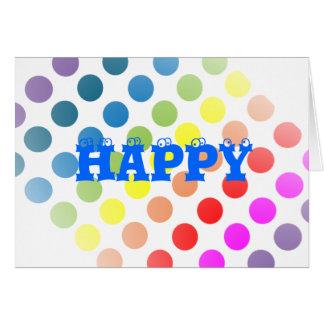 Happy Birthday Polka Dots Card