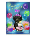 Happy Birthday poodle balloons Greeting Card