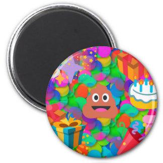 happy birthday poop emoji 2 inch round magnet