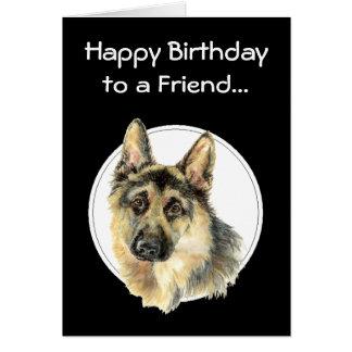 Happy Birthday Priceless Friend, German Shepherd Card
