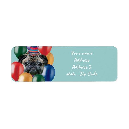 Happy Birthday pug dog