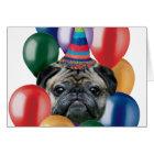Happy birthday Pug dog Card
