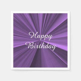 Happy Birthday Purple Paper Napkins by Janz